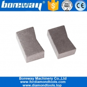 China 1600mm K Shape Sandwich Structure Wet Cutting Diamond Segment for Granite factory