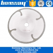 China 180MM Bowl-shaped Electroplated diamond cutting disc with Protection for granite for marble wholesale diamond saw blade factory