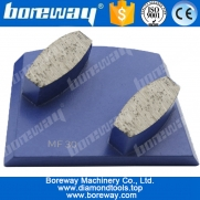 China 2 hexagon segments diamond grinding pads for concrete floor, diamond grinding blocks, diamond grinding pads factory