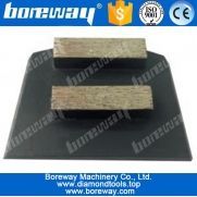 China 2 rectangle diamond segments concrete grinding blocks for lavina floor grinder factory