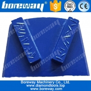 China 2 rectangle segments concrete diamond grinding shoes for lavina grinding machines factory