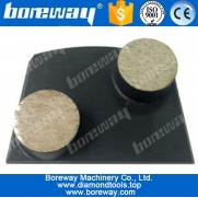 China 2 round bar diamond grinding shoes for lavina floor grinding machines factory