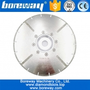 China 230MM Electroplated diamond cutting blade 22.23MM or M14 flange with protection reinforced diamond disc with flange factory