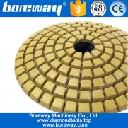 "China 3"" 8pcs Diamond Convex Polishing Pad  Bowl Arc Type With Backer Pad Convex Disc For Marble Granite factory"