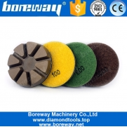 China 3 Inch 75mm Resin Bond Concrete Floor Grinding Discs Abrasive Tools factory