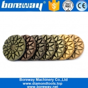 China 3 Inch Wet Use Sunflower Floor Abrasive Pads For Stone Concrete factory