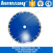 China 350mm laser welding diamond saw blade for cutting asphalt factory