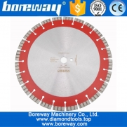 China 358MM Professional Laser welded High Turbo segments Diamond Saw Blade Cutting Reinforced concrete Disc Diamond Wheel factory
