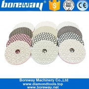 China 4 Inch 100mm Dry Use Polishing Diamond Resin Pad Grinding Disc For Grinding Machine Suppliers factory