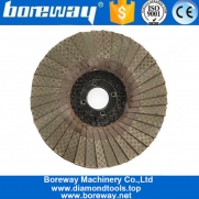 China 4 Inch 100mm Electroplated Diamond Flap Disc For Stone Metal factory