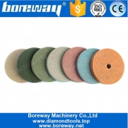 China 4 Inch 10mm Thickness Sponge Polishing Pads For Marble Artificial Stone factory