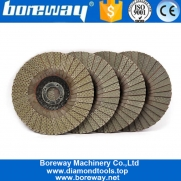 China 4 Inch Diamond Electroplated Flap Sanding Disc For Angle Grinder factory
