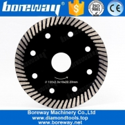 China 4 Inch Diamond Turbo Cutting Disc Saw Blade For Granite Marble Stone factory