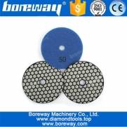 China 4 Inch Professional Flexible Dry Use Diamond Sanding Discs For Marble Granite Stone Polishing factory