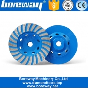 China 4 Inch Turbo Diamond Grinding Cup Wheel For Concrete Granite Marble factory
