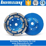 China 4 Inch M14 Thread Double Row Segment Diamond Grinding Wheel For Granite Concrete factory