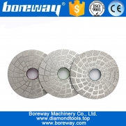 "China 4""  Vacuum Brazed Diamond Grinding Disc With Velcro Backed for Granite/Concrete factory"