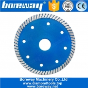 China 4.5 Inch Turbo Diamond Saw Blade With Cooling Holes For Granite Sandstone Concrete factory