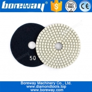 China 4Inch Wet Diamond Polishing Pad For Granite Marble Concrete Angle Grinder factory