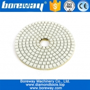 China 4Inch Wet Use white Diamond Polishing Pads For Granite Marble Polishing factory