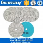 China 4inch 100mm Resin Bond Wet or Dry Diamond Polishing Pad for Granite Marble Stone factory