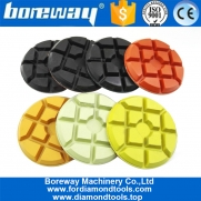 China 4inch Resin Bonded Polish Floor Concrete Wet Dry Diamond Pad 100mm Diamond Resin bond pad factory