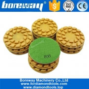 China 4inch resin bond diamond floor renew polishing pads from 50# to 3000# factory