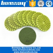 China 4inch thickened Diamond resin bond diamond floor polishing pads for granite marble factory