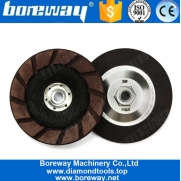 China 5 Inch 125mm Ceramic Bond Diamond Edge Grinding Wheel For Concrete Floor factory