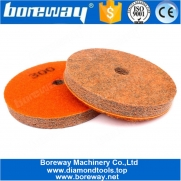 China 5 Inch 7 Step Sponge Abrasive Polishing Pads For Marble Granite factory