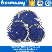 China Boreway 9 inch 230mm Turbo Segmented Diamond Slant Protection Teeth Circular Disc For Masonry Cutting Machine 2020 fábrica