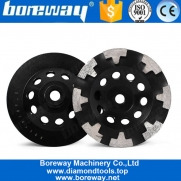 China 5 Inch T Segment Diamond Grinding Bowl Wheel For Concrete Stone factory
