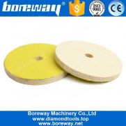 China 5 Inch Wool Felting Polishing Buffing Pads For Glass Jewelry Car factory