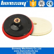China 5 Inch Wool Felting Polishing Pad And Foam Backing Pad For Polisher factory