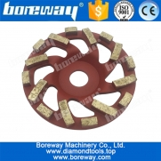 China 5 inch turbo diamond cup wheels for grinding concrete factory