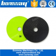 China 5inch 125mm Wet Use  Flexible Diamond Polishing Pad For Stone Granite  Ceramic Tile Grinding factory