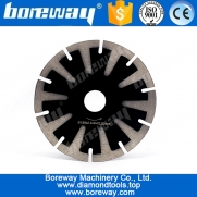 China 5inch T-Segmented Concave Diamond Blade For Curved Cutting Granite Stone factory