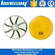 China 7 Step Dry Use Diamond Resin Polishing Pads For Concrete Floor factory