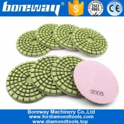 China 8Pcs 4inch Floor Renew Sanding Discs Repairing for Beton 100mm Resin Bond Concrete Floor polishing pads factory