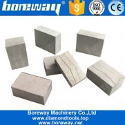 China Boreway 1.2m Diamond Blade Segment Tips for Cutting Granite Marble Sandstone Etc factory