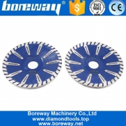 China Boreway 105/115/125 / 180mm diamond concave saw blade T-shaped protection teeth concrete granite marble stone cutting board factory