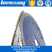 China Boreway 1pc 230mm 9 Inch Turbo Diamond Porcelain Stone Concrete Cutting Blade Circular Disc factory