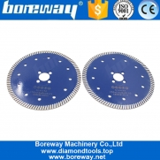 China Boreway 230mm Hot Pressed Turbo Rim Circular Diamond Porcelain Marble Granite Stone Concrete Cutting Blade Disc factory
