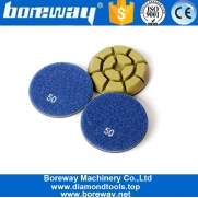 China Boreway 3 Inch Wet Use Diamond Polishing Pads For Marble Floor factory