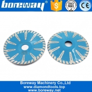 China Boreway 4'' 5'' 6'' 7'' T-Segment Concave Continuous Turbo Rim Diamond Blade Curved Cut Saw for Granite Marble factory