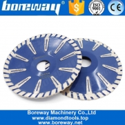 China Boreway 4 Inch Sintered Rim Continuous Cutting Disc Contour Diamond Blade Professional Fast Cutter Tool Marble Cutting Disk Wholesaler factory