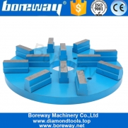 China Boreway 8 Inch 10 Inch 400# Oval Sharp Metal Segmented Type Grinding  Top Quality Polishing And Grinding Disc For Granite factory