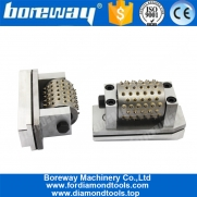 China Boreway 99S Litchi Surface Smooth Grinding Concrete Granite Stone Bush Hammer  Rollers Tools Suppliers factory