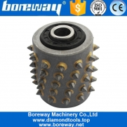 China Boreway Bush Hammer Roller With 60s For Concrete And Stone Litchi Surface factory