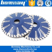 China Boreway Circular Diamond Concave Cutting Blade For Granite And Marble With T Segmented Contour Blade factory